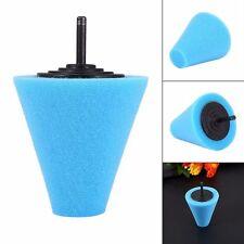 Polishing Sponge Cone Metal Foam Pad Car Wheel Hub Care Polish Buffing Shank 6MM