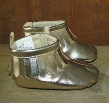 Niña/Niño (03 Meses) Gymboree Oro Mocasines sin Cordones/Zapatos