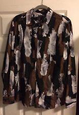 Men's H&M Black Fashion Button Shirt (Size: Medium)