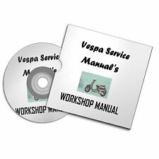 VESPA GTS S LX PX  PE 50 125 250 WORKSHOP OWNERS MANUAL  SCOOTER MOPED FREE P+P