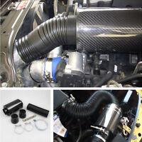 Cold Air Intake Kit Carbon Fiber Air filter High Flow Enhance Horsepower& Torque