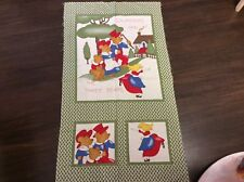 "FABRIC  QUILTING   PANEL "" GOLDILOCKS & THE THREE BEARS"""