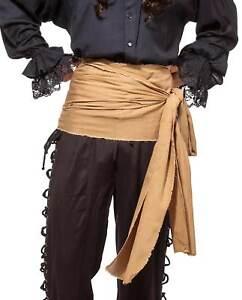 12 Ft Large Pirate Waist Sash Red Black Tan Purple Orange Mens Womens Costume