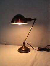 Vintage Solid Brass Desk Lamp w/ Weber Socket (#2)