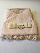 Pink Corduroy Dress Dog Harness Vest M 245 Wedding lace