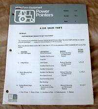 "Oliver/White Farm Equipment ""Power Pointers"" 4-150 FAB Dealer Brochure-ca 1970!"