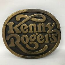 Belt Buckle Image Factory Product Country Vtg Kenny Rogers United Artist Records