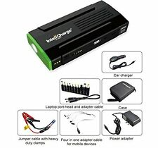 InteliCharge X1 13600mAh Portable Power Bank Tire Compressor Jump Starter Cable