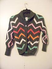 Pretty Girls Gymboree Gray Chevron Sweater Size 7-8 EUC!!!