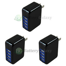 3X Universal Fast 4 Port Wall Charger 3.1Amp for Apple iPhone/Android Cell Phone