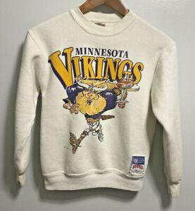 Vintage 1990's Kids MINNESOTA VIKINGS VIKTOR THE VIKING Sweatshirt Medium 8-9