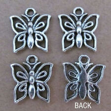 PJ030 20pc Tibetan Silver Dangle Charm Butterfly Beads Fit Bracelet Earrings