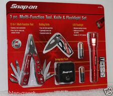 Snap-On Tool Set 13-n-1 Multi-Function Tool + Sheath + Knife + Flashlight - RED