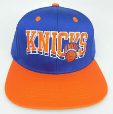 NEW YORK KNICKS NBA VINTAGE 2-TONE BLOCK FLAT BILL SNAPBACK RETRO CAP HAT NEW!