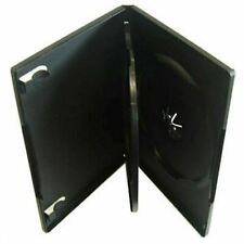 3 x Black Triple 3 Way DVD Case Plastic Cover Sleeve Wallet