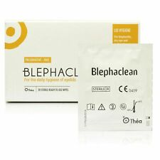 3 x Blephaclean Sterile Wipes (20) Daily Hygiene of Eye Lids & Preservative Free