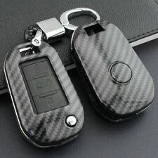 Carbon Fiber Car Flip Key Case Cover Fit For Peugeot 308 208 Citroen C4 C5 C3