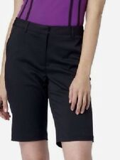 NWT GREG NORMAN Womens Black Flat Front SIGNATURE SERIES Golf Shorts STRETCH ~ 6