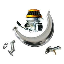 Muffler Exhaust Piep,Carburetor,Yellow Air Filter for 49/66/80cc Motorised Bike