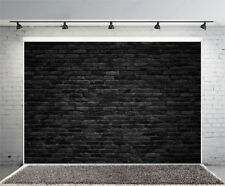 Black Brick Wall Vinyl Photography Backdrop Background Studio Prop 7x5FT