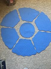 Blue Table Mats Place Mats For Round Tables 6 Settings Wedge Shape Curved