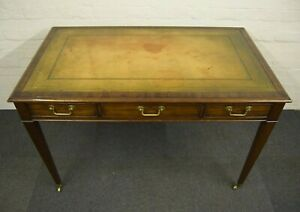 LOVELY ANTIQUE DESIGN MAHOGANY LEATHER TOP WRITING DESK