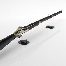 Freestanding Rifle Musket Display Stand / Gun Stand / Model Holder - Black Base