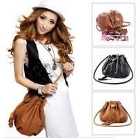 Women Lady Leather Shoulder Bag Handbag Satchel Clutch Messenger Hobo Tassel Bag