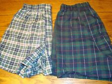 2 Men's Fruit of the Loom Boxer Briefs Plaid UNDERWEAR - Size Small (28-30) NEW