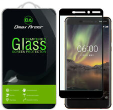2-Pack Dmax Armor - Nokia 6.1 Tempered Glass Full Cover Screen Protector Black