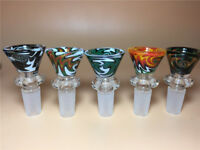 2 pcs Colorful Glass Bowl 14mm Male Joint for Bongs Water Pipes Hookahs Random