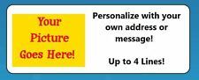 """60 Personalized """"Create Your Own"""" Return Address Labels"""
