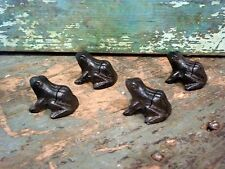Cast Iron Set/4 Frog Photo Card Wedding Party Holder Home Garden Office Decor