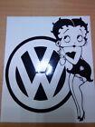 fun betty boop vinyl car sticker fun girls graphics decal beetle polo golf rline