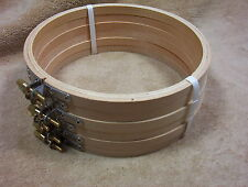 """Wood Wooden Ebroidery Cross Stitch Hoop 6""""  New Lot of 6"""