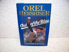 Out of the Blue by Orel Hershiser Hardback Book Los Angeles Dodgers LA