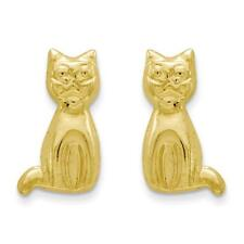Polished Cat Post Stud Earrings Madi K Kids 14k Yellow Gold
