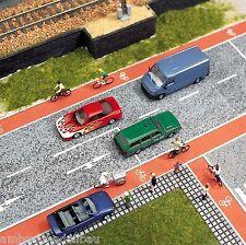 (1m²=172,07€) BUSCH 7082 H0, Radweg, je 1x rot + asphalt, 14,5 mm breit, 1m lang
