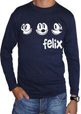 fm10 camiseta de manga larga unisex FELIX LA CAT gato negro