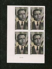 4464 Oscar Micheaux 2010 MNH SA   Plate Block 4x44c