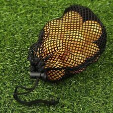 Black Nylon 12 -16 Balls Holder Mesh Nets Bag Pouch Golf Ball Storage Closure