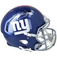 SAQUON BARKLEY Autographed Giants Authentic Speed Helmet FANATICS