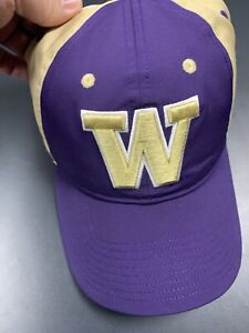 Washington Huskies Purple Structured Size Fitted Hat Small/Medium By Adidas Dawg