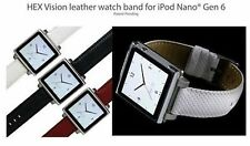 HEX Vision Leather Watch Band - To Suit iPod Nano Gen 6 - Black