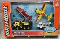 MATCHBOX - MISSION FORCE AIRPORT CREW - with 4 VARIOUS VEHICLES - BOXED - 2012