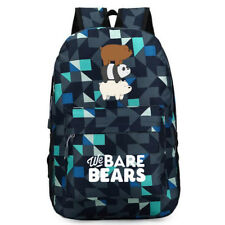 Anime We Bare Bears Grizzly Sdudent School Bag Backpack Travel Bags Mixed colors