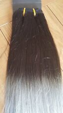 "18""DELUXE FULL HEAD WEAVE/WEFT 150G #1B/GREY OMBRE REMY HAIR WEFT Off black/grey"