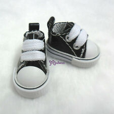"Mimiwoo 12"" Neo Blythe Pullip 1/6 BJD Doll PU Leather MICRO Shoes Sneaker BLACK"