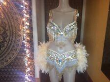 Gold Showgirl Burlesque Costume