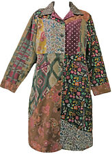 FUNKY STUFF patch corduroy lined floral dots COAT JACKET + SCARF 2X Free shippin